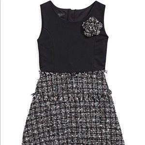 Laundry by Shelli Segal Girls Tweed Contrast Dress